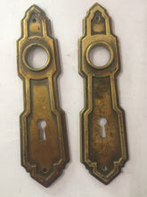 Load image into Gallery viewer, Vintage Brass Backplates (Door Escutcheon)