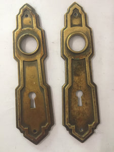 Vintage Brass Door Plates 7 (PAIR)