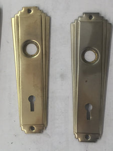 Vintage Brass Door Plates 12 (PAIR)