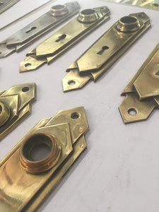 Vintage Brass Door Plates 14 (PAIR)