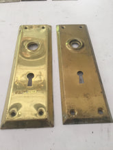 Load image into Gallery viewer, Rectangular Vintage Brass Door Plates (PAIR)