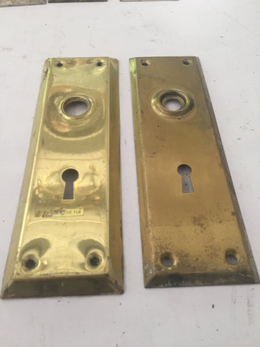 Rectangular Vintage Brass Door Plates (PAIR)