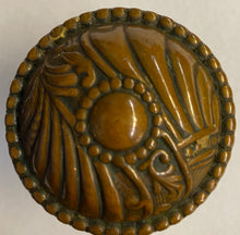 "Load image into Gallery viewer, Corbin ""Roanoke"" Pattern Bronze Knobs with Matching Backplates"