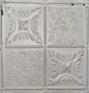 Alternating Patterned Antique Tin Ceiling