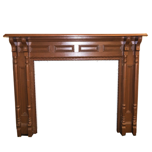 Brown Wooden Mantle