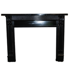 Load image into Gallery viewer, Black Wooden Mantel - M8-2019
