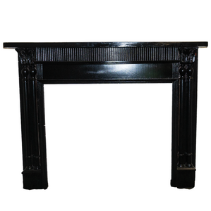Black Wooden Mantel - M8-2019