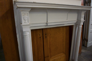 White Decorative Mantel - M3-2019