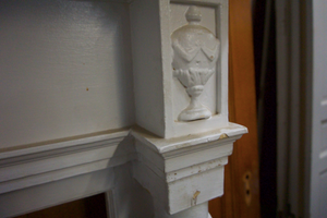 White Decorative Mantel