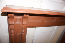 Load image into Gallery viewer, Brown Wooden Mantel
