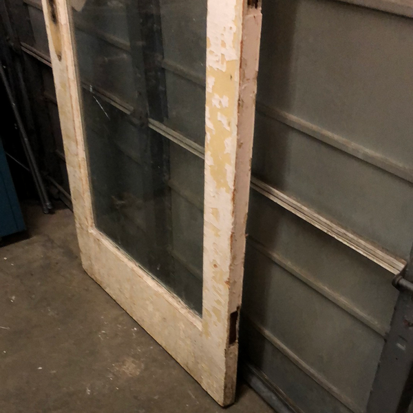 Full glass panel exterior door
