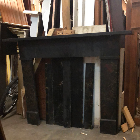 Black Slate Fireplace Mantel