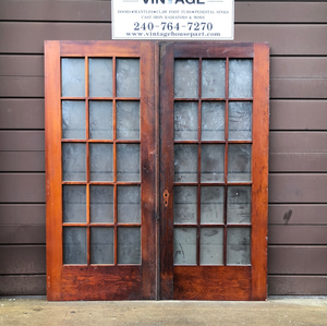 Oak French door pair only