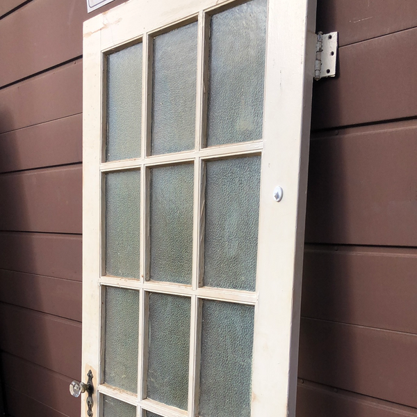 Single authentic frosted glass door