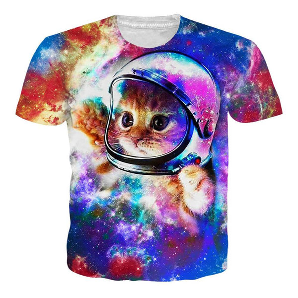 Astronaut Cat T Shirt