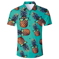Pineapple Tropical Hawaiian Shirt Green