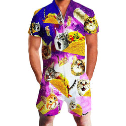 Taco Cat Printed One Piece Male Romper