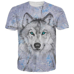 Snow Tree White Wolf T Shirt Tee