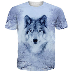 Snow Wolf T Shirt White Snow Wolf Tee