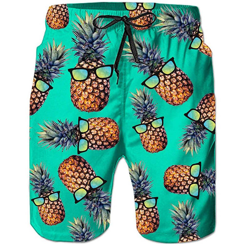 Green Pineapple Swim Trunks