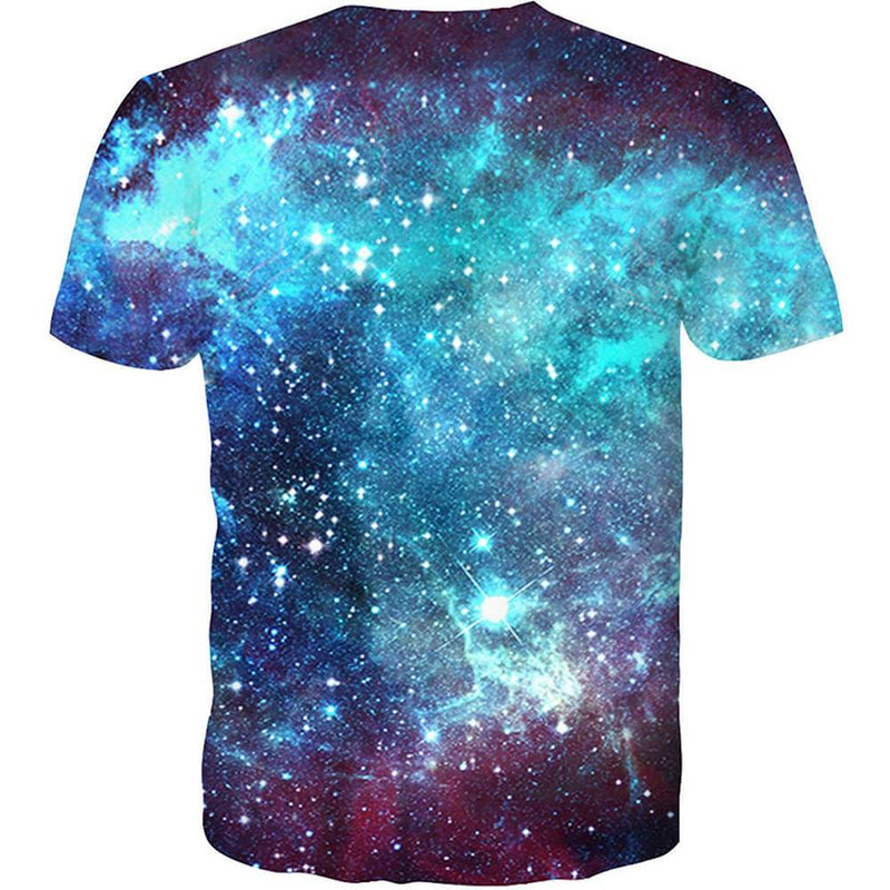 Short Sleeve Galaxy T-Shirt Graphic