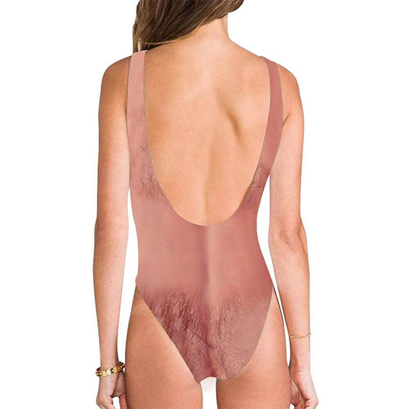 Ugly Chest Hairy One Piece Swimsuit