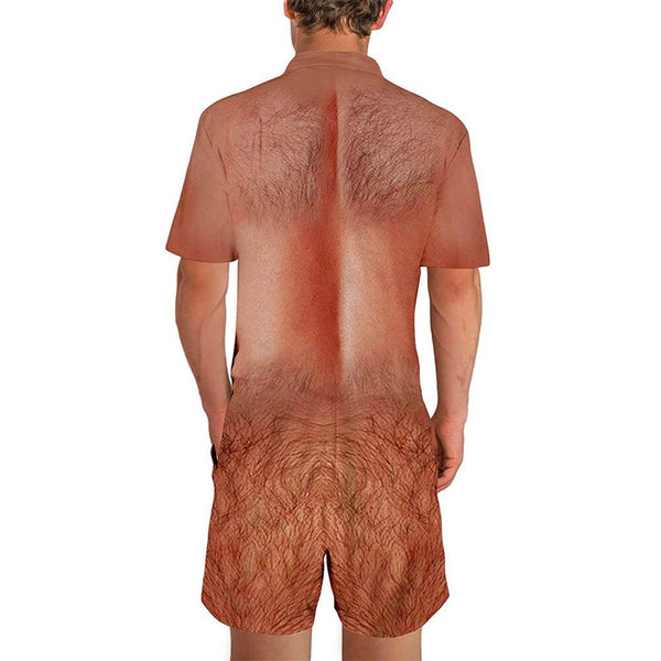 Ugly Chest Hair Male Romper