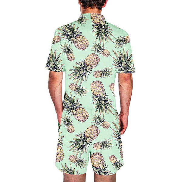 Pineapple Printed Male Romper