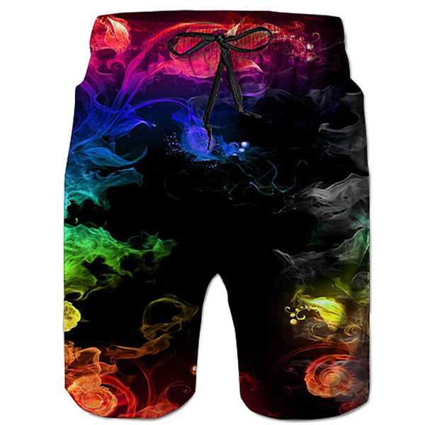 Colorful Smoke Swim Trunks