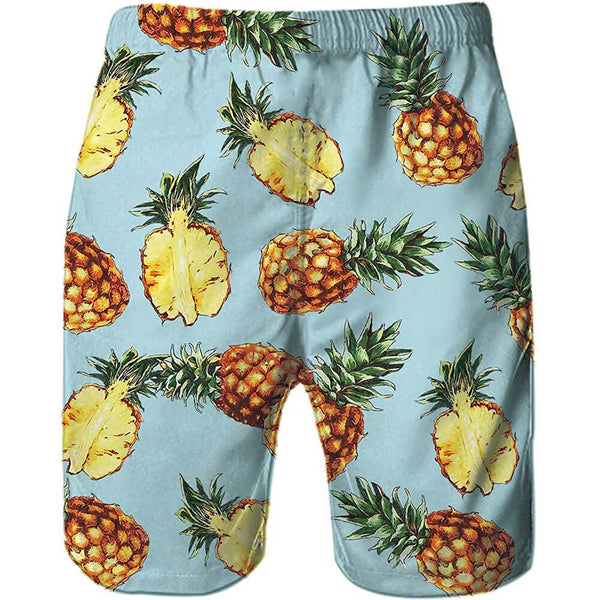 Funny Quick Dry Pineapple Swim Trunks