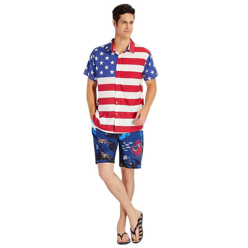 American Flag Hawaiian Shirt