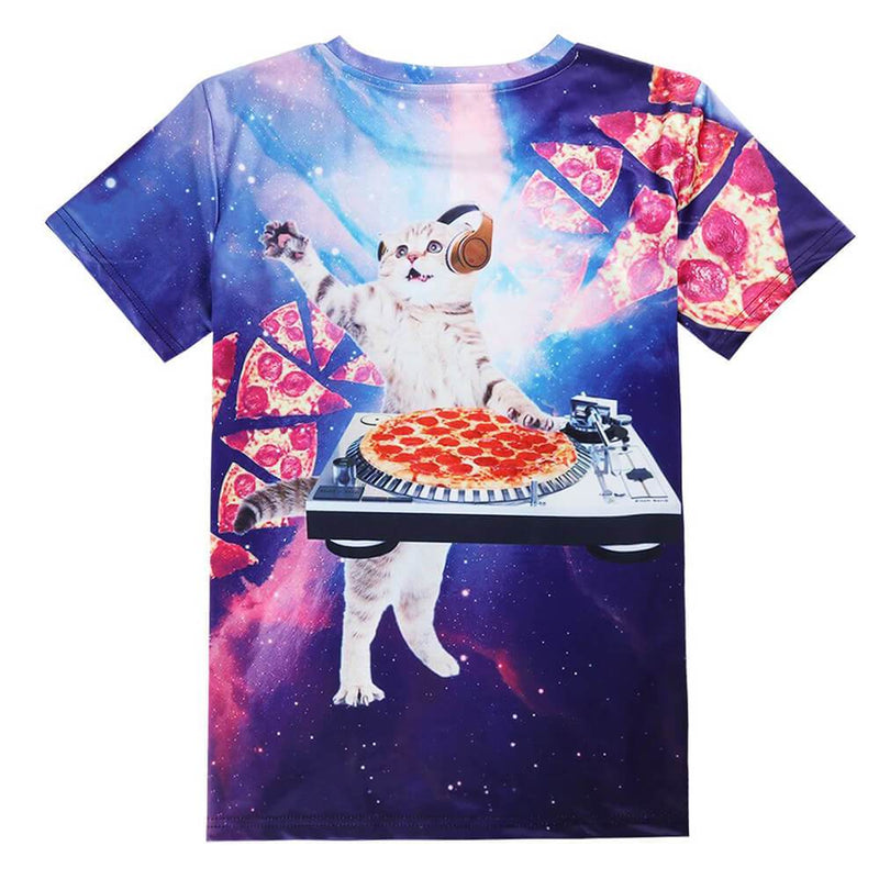 Pizza Dj Cat Tee Graphic