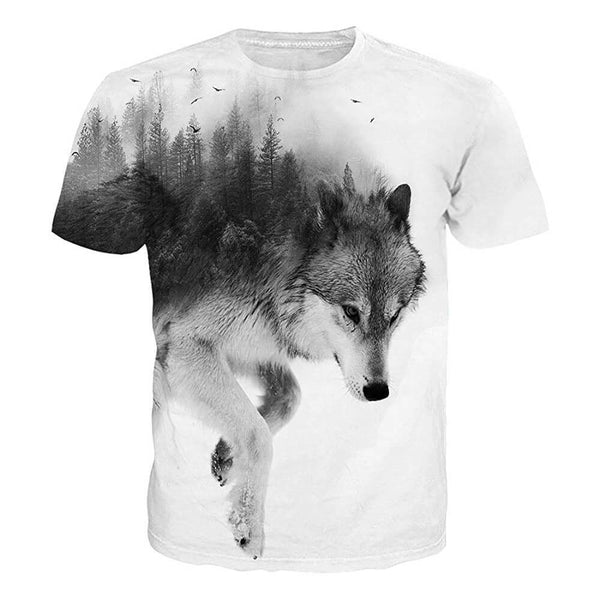 Forest Snow Wolf T Shirt