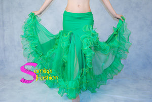 Gonna Belly Dance Volants Fluo - Verde