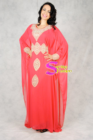 Kaftano Fashion Chiffon Syria - Red