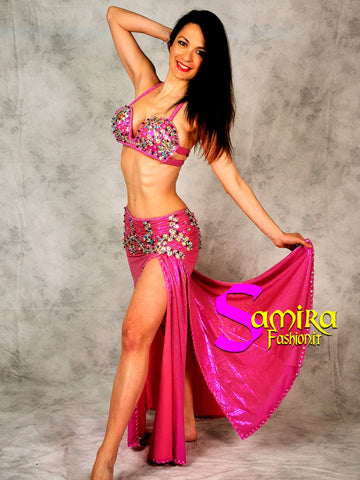 Stretch Glam 90, Belly dance costume, Fucsia