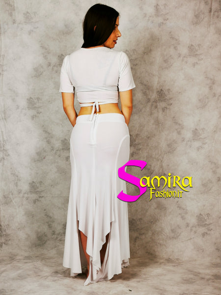 Set Egyptian Pop, Top+Gonna - Bianco