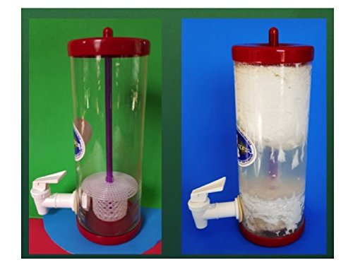 Kefir Fermenter: Curd and Whey Separator 1.0 L (34 Oz) with Kefir Grains (20g) in Cage.