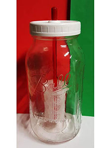 Kefir Fermenter: Set with Large (120cc) container for Use with Jar (Wide Mouth) You Already Have