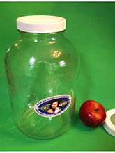 Load image into Gallery viewer, One Gallon Glass Jar for Fermenting and Storage with Two Lids