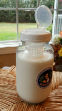 Kefir Fermenter for Rapid Fermenting with Large Container for Kefir Grains 0.6 L/20 oz with kefir grains