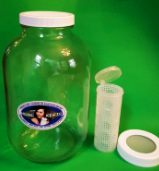 One Gallon Glass Jar for Fermenting and Storage with Two Lids