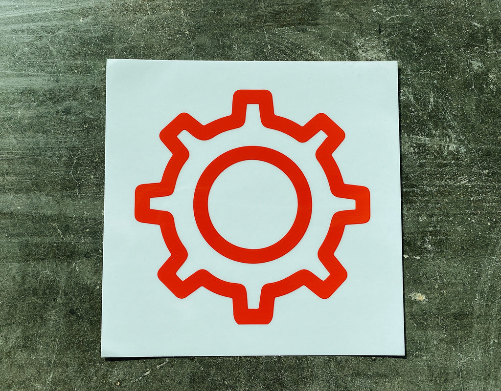 Red Gear Car Decal