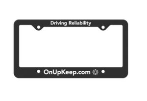 Black UpKeep License Plate Frame