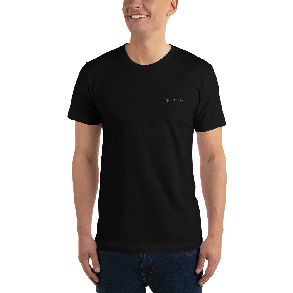 Maintain Hope Embroidered T-Shirt (Black)