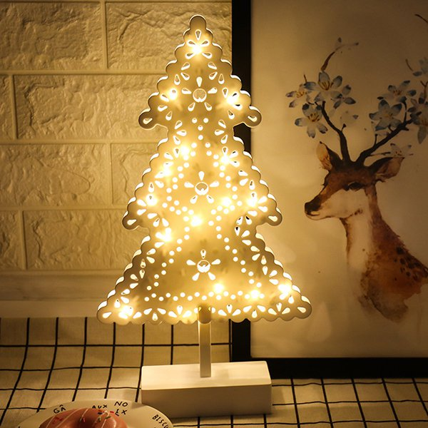 LED Night Light Empty Thread Star Heart Tree Shape Lightings Home Christmas Party Romantic Decor