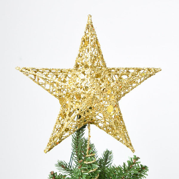Christmas Tree Topper Star Iron Christmas Star Tree Topper for Table Decor Colorful Craft DIY Access