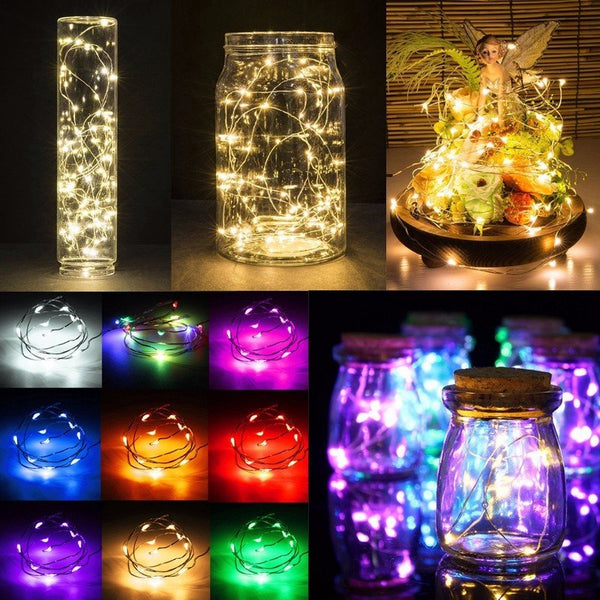 1M Battery Powered 10 LED Copper Wire Fairy String Light Wedding Xmas Party Lamp Home Decor
