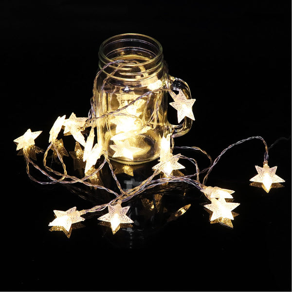 Battery Powered 3M 20LEDs Star Shaped Fairy String Light Christmas Patio Home Decor