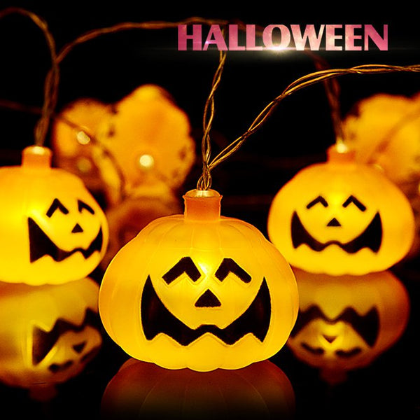 16 LED Halloween Pumpkin String Lights LED Fairy Lights for Festival Halloween